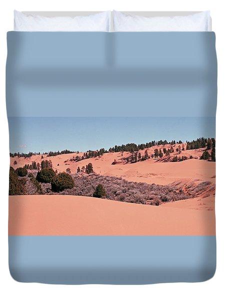 Coral  Pink Panorama Duvet Cover