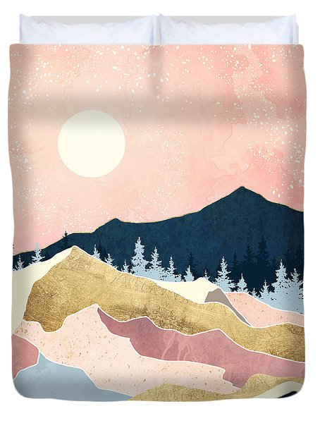 Coral Sunset Duvet Cover