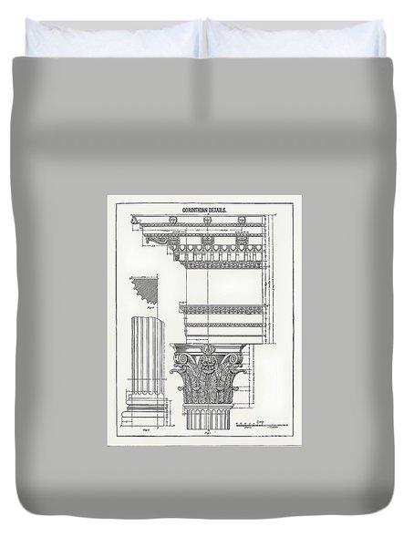 Corinthian Architecture Duvet Cover