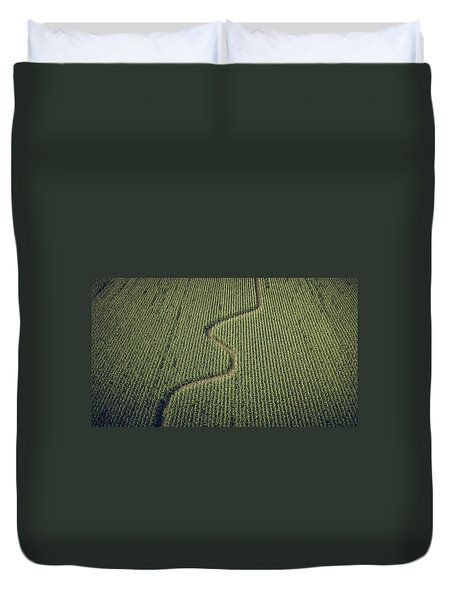 Duvet Cover featuring the photograph Corn Field by Steve Stanger