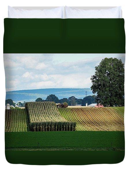 Corn Harvest Duvet Cover