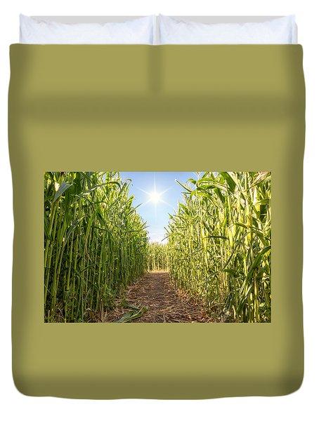 Corn Maze Duvet Cover