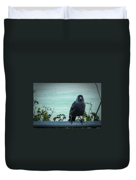 Cornish Crow Duvet Cover