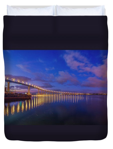 Coronado Bridge Sunrise - Panorama Duvet Cover