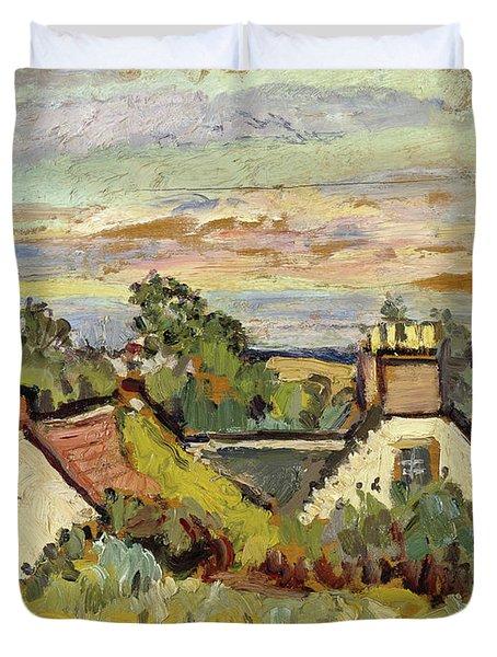 Cottages, Fife, 1924 Duvet Cover