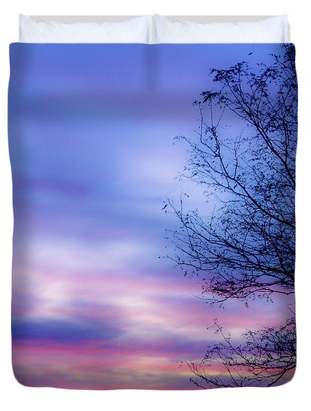 Cotton Candy Sunset In October Duvet Cover