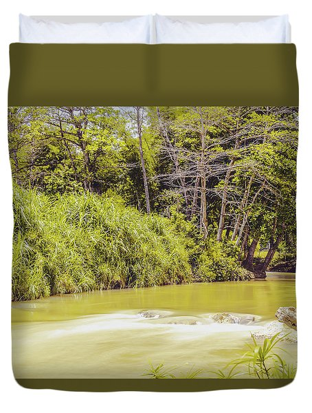 Country River In Trelawny Jamaica Duvet Cover