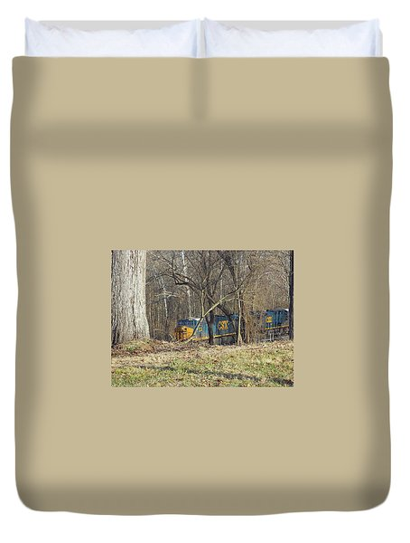Country Train Duvet Cover