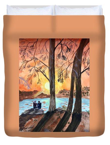 Couple Under Tree Duvet Cover