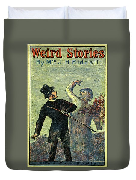 Victorian Yellowback Cover For Weird Stories Duvet Cover