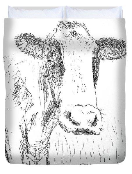 Cow Doodle Duvet Cover