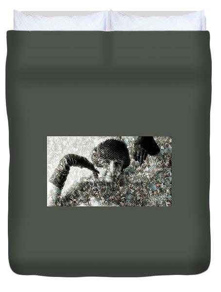 Cp In Black Gloves Duvet Cover