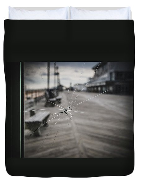 Duvet Cover featuring the photograph Crack by Steve Stanger