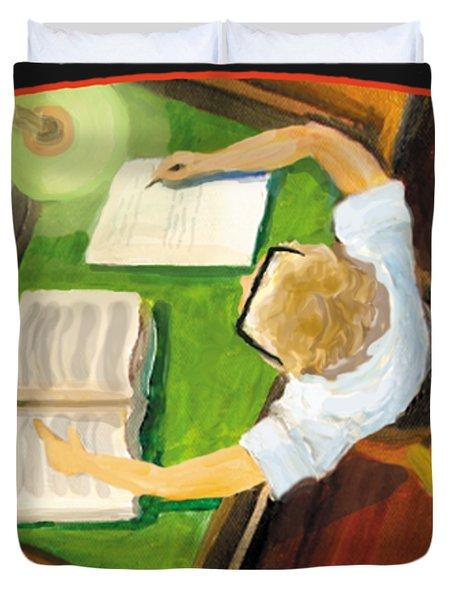Crack'n The Books Duvet Cover