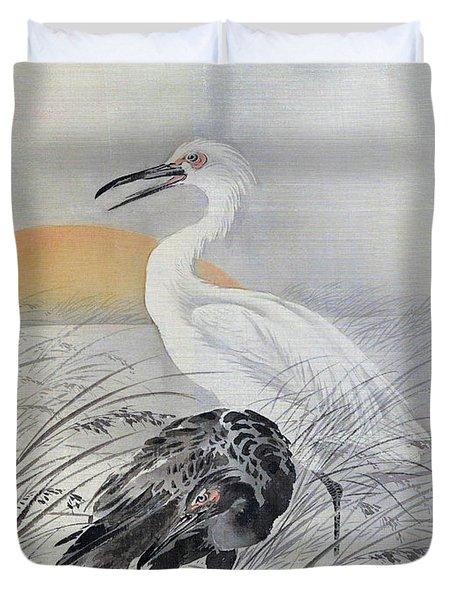 Cranes In Marsh - Digital Remastered Edition Duvet Cover
