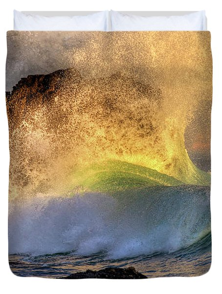 Crashing Wave Leo Carrillo Beach Duvet Cover