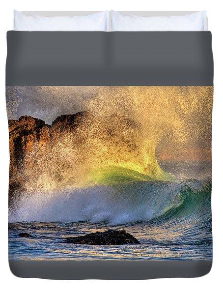 Crashing Wave Leo Carrillo Beach Duvet Cover