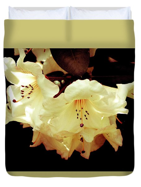 Creamy Rhododendron Duvet Cover