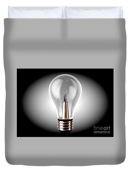 Creativity Light Bulb Concept Duvet Cover
