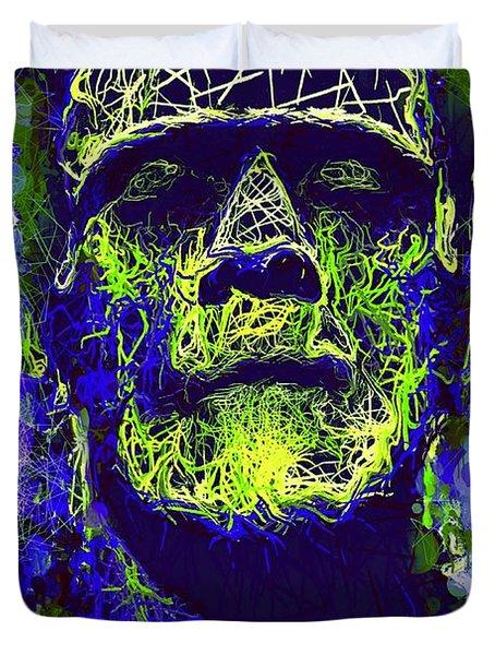 Frankenstein Watercolor Duvet Cover