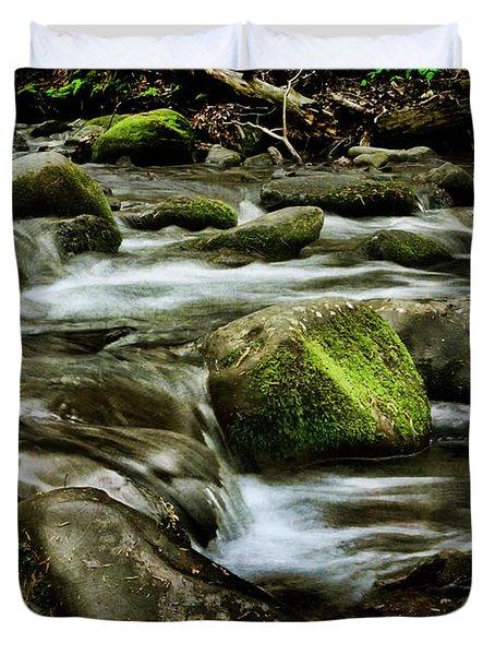 Creek Cades Cove Duvet Cover