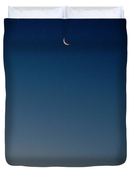 Crescent Moon Over Gros Morne Duvet Cover
