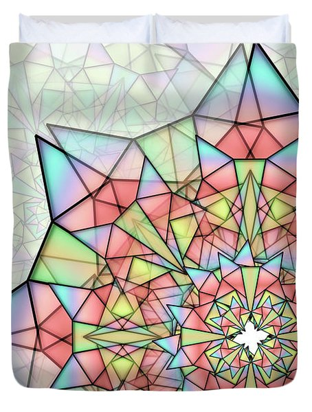 Duvet Cover featuring the digital art Cristal by Vitaly Mishurovsky