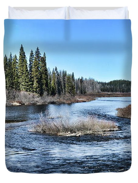 Crooked River Duvet Cover