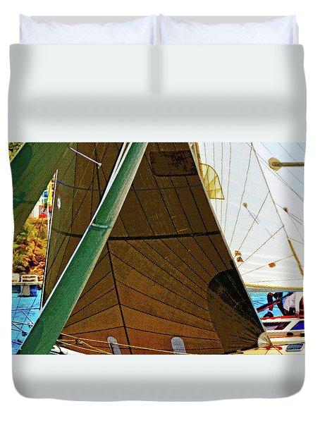 Crossing Sails Duvet Cover