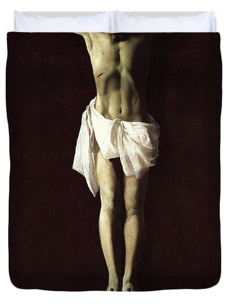 Crucified Expiring Jesus, 1640 Duvet Cover