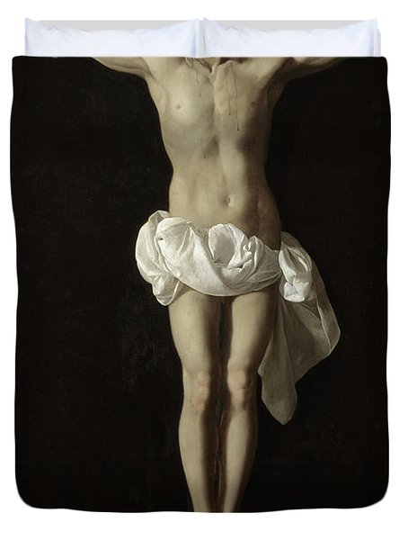 Crucified Expiring Jesus Duvet Cover