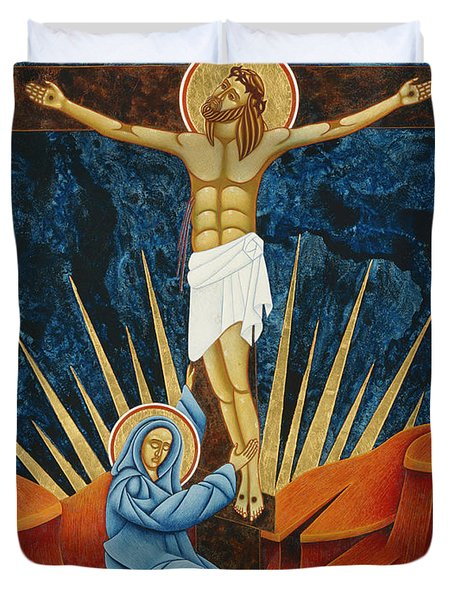Crucifixion By Jodi Simmons Duvet Cover
