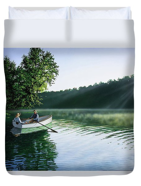 Cruise For Two Duvet Cover