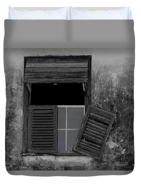 Crumblling Window Duvet Cover