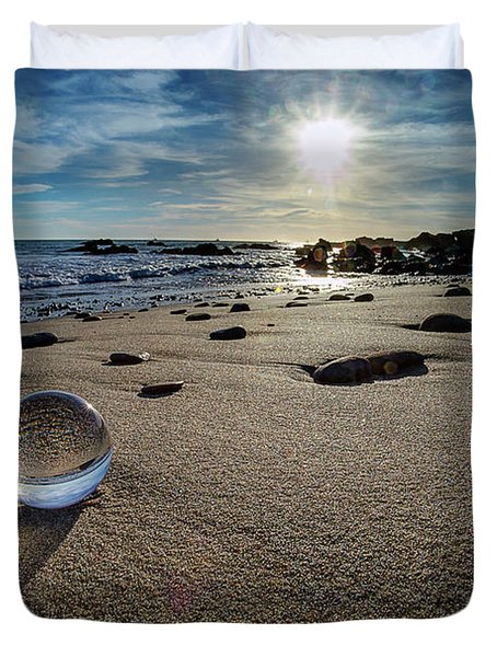 Crystal Ball Sunset Duvet Cover