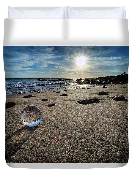 Crystal Ball Sunset Duvet Cover