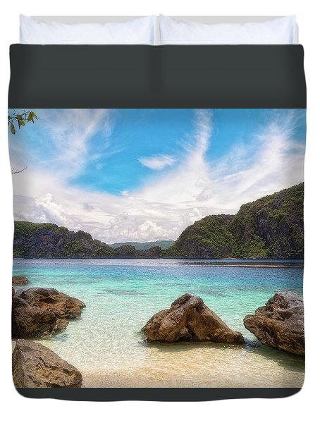 Duvet Cover featuring the photograph Crystal Clear by Russell Pugh