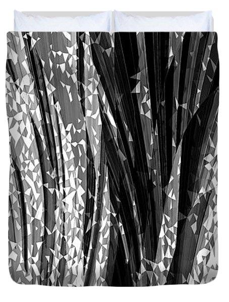 Crystal Floral Black Opposite Duvet Cover