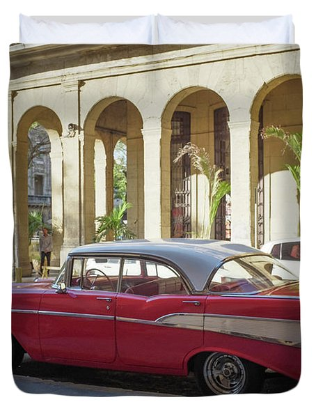 Cuban Chevy Bel Air Duvet Cover