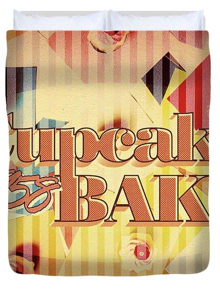 Cupcake Bake 1958 Duvet Cover