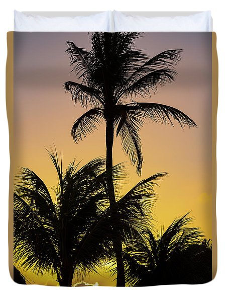 Curacao Sunset Duvet Cover