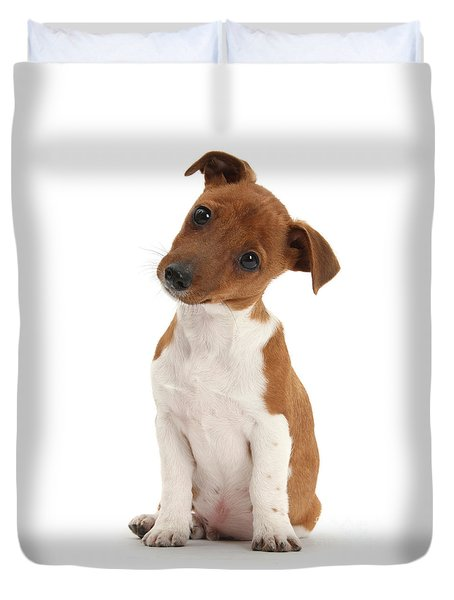 Duvet Cover featuring the photograph Curious by Warren Photographic
