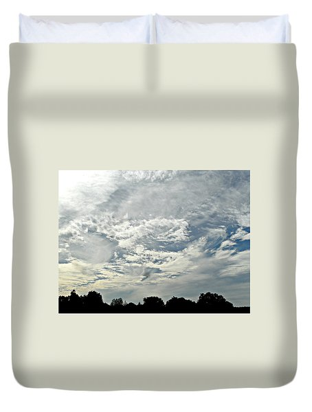 Curvy Clouds Duvet Cover