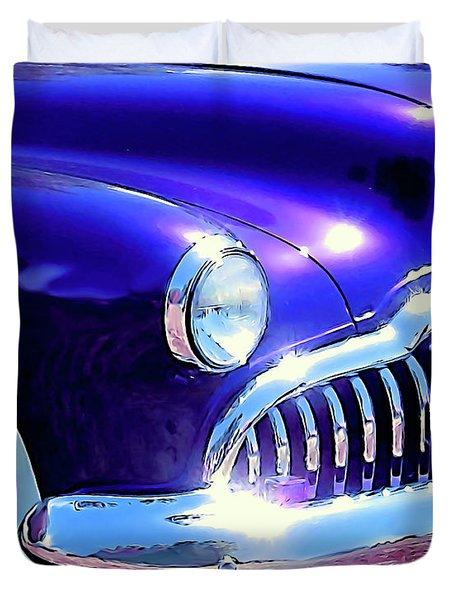 Custom 1949 Purple Buick Duvet Cover