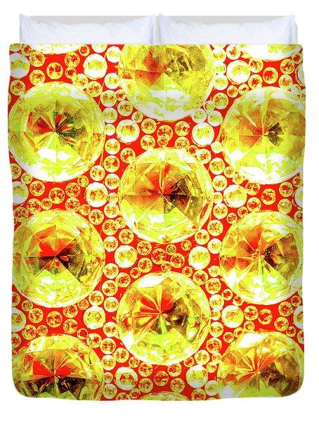 Cut Glass Beads 3 Duvet Cover