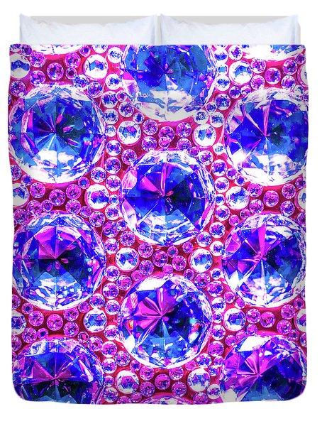 Cut Glass Beads 4 Duvet Cover