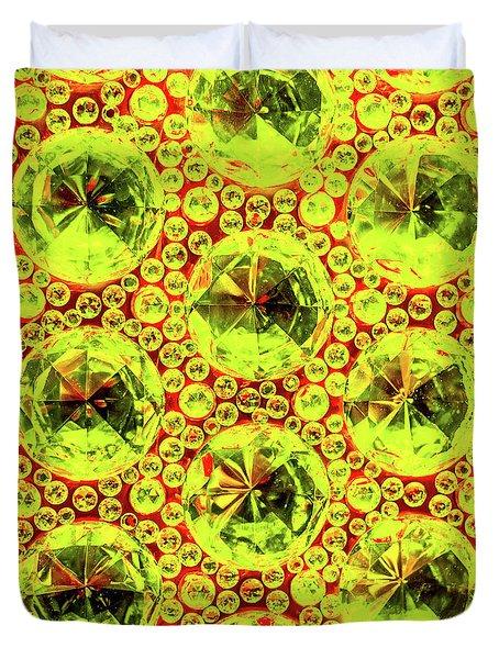 Cut Glass Beads 5 Duvet Cover