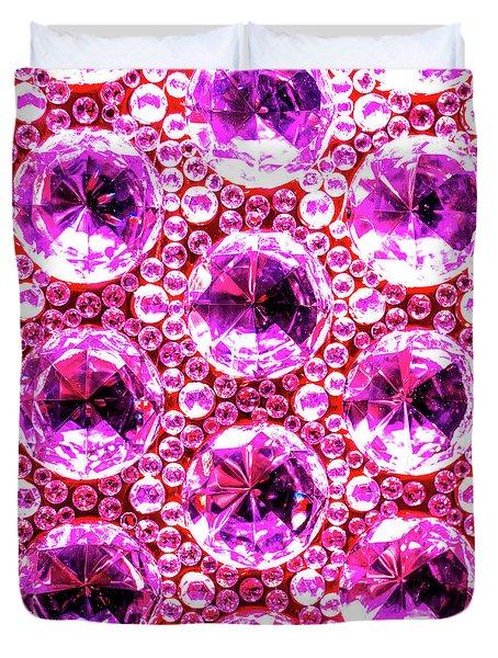 Cut Glass Beads 6 Duvet Cover