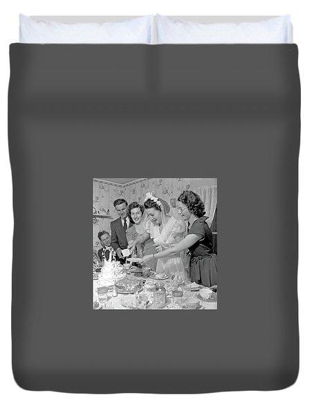 Cutting The Wedding Cake Nova Scotia Duvet Cover