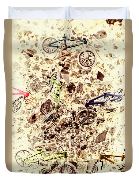 Cycling Abstracts Duvet Cover